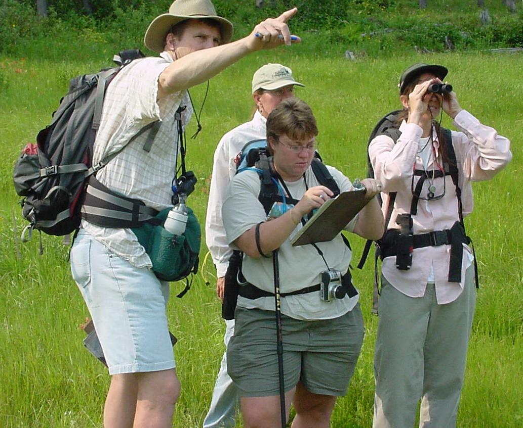 Vegetation mapping field work at Glacier National Park ...
