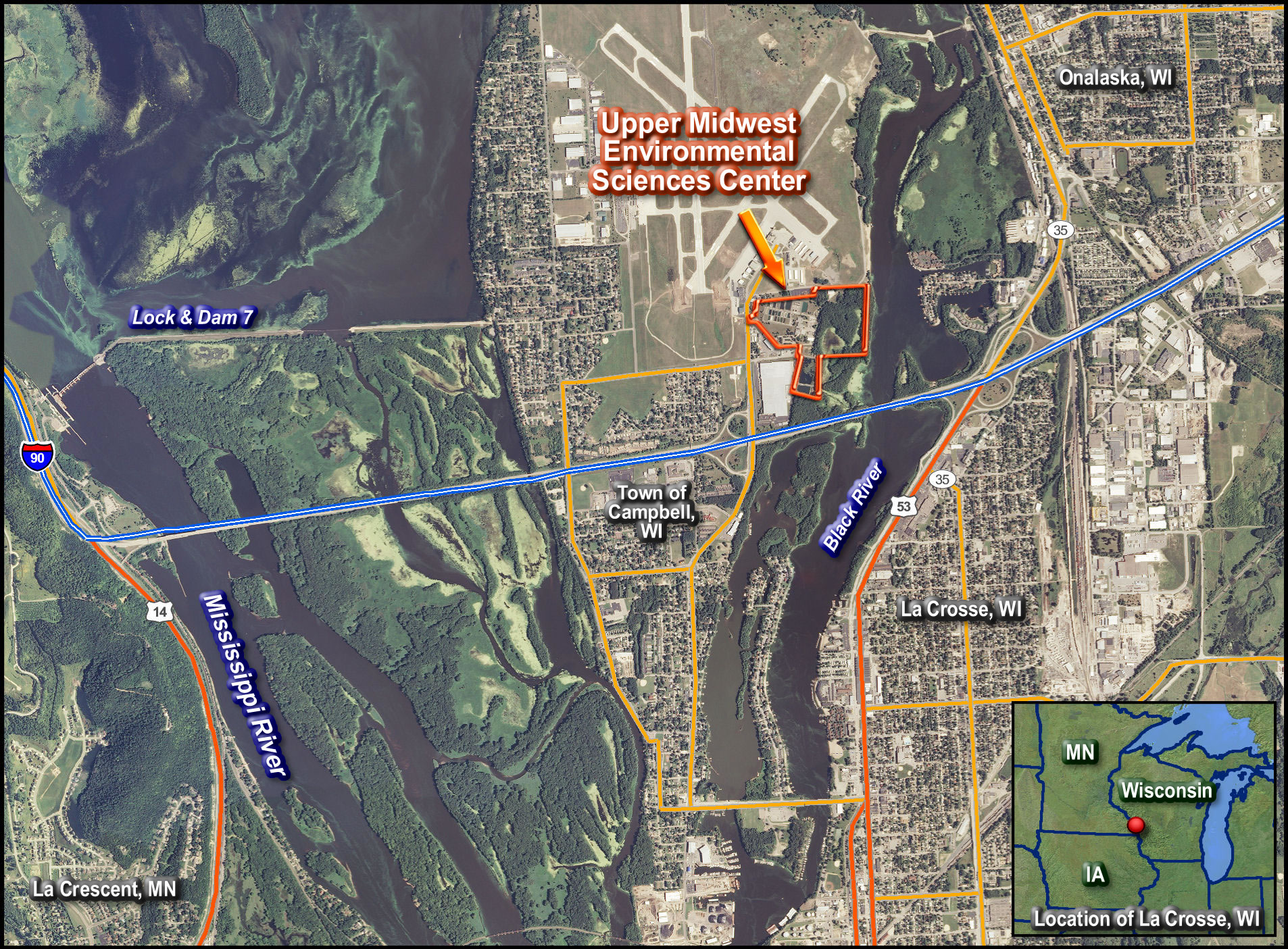 We Are Located On An Island In The Mississippi River Near The City Of La Crosse Wisconsin It Is A U S Geological Survey Usgs Science Center