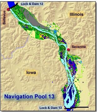 Reach 1 Navigation Pool 13 Upper Mississippi River