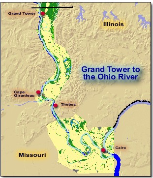 Grand Tower To The Ohio River - Upper Mississippi River