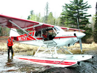 Float plane in Voyageurs National Park